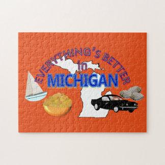 すべてはミシガン州のパズルでよりよいです ジグソーパズル