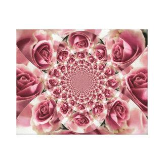 すべては上がるバラです!  ~の花柄のアンサンブル キャンバスプリント