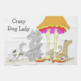 すべては動物の慈善熱狂するな犬の女性に進みます キッチンタオル