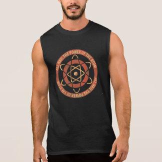 すべては原子のヴィンテージのロゴの力を呼びます 袖なしシャツ