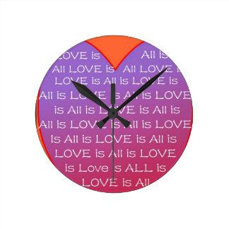すべては愛です ラウンド壁時計