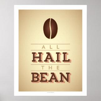 すべては豆の芸術ポスターを呼びます ポスター