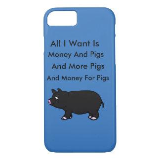 すべてはI Wantお金およびブタです iPhone 8/7ケース