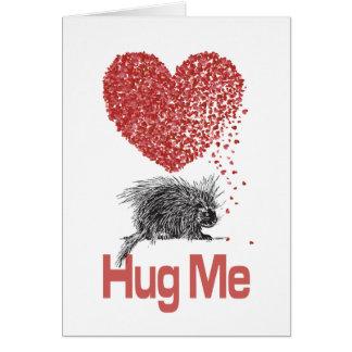 すべてはI Want抱擁プリントのヤマアラシの芸術です カード