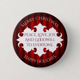 すべてへのメリークリスマスの好意 5.7CM 丸型バッジ