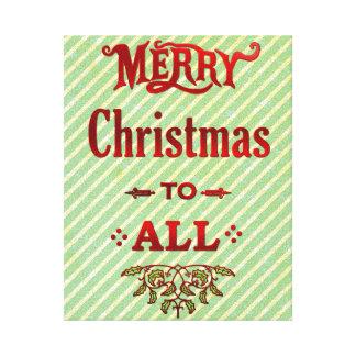すべてへのメリークリスマス キャンバスプリント