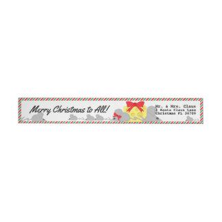 すべてへのメリークリスマス • マウス及びチーズ • かわいい ラップアラウンドラベル