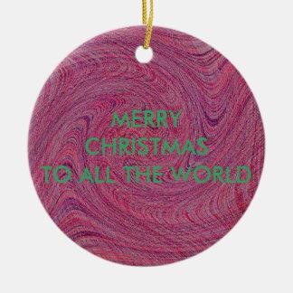 すべてへのTORN-TWISTEDそしてねじで締められたメリークリスマス セラミックオーナメント