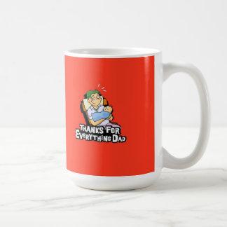 すべてをありがとうパパのマグ コーヒーマグカップ