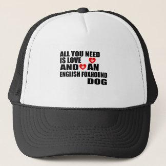 すべて愛イングリッシュ・フォックスハウンド犬のデザインを必要とします キャップ