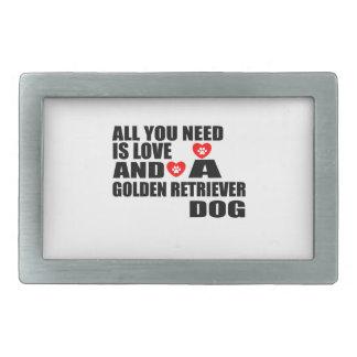 すべて愛ゴールデン・リトリーバー犬のデザインを必要とします 長方形ベルトバックル
