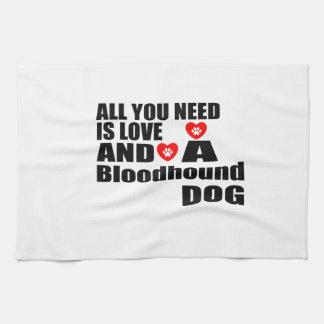 すべて愛ブラッドハウンド犬のデザインを必要とします キッチンタオル