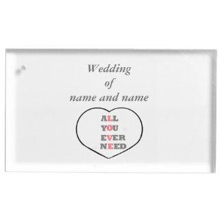 すべて愛結婚式のテーブルの場所のホールダーを必要とします