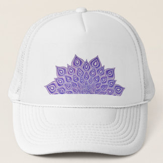 すみれ色のはす王冠のチャクラの曼荼羅のトラック運転手の帽子 キャップ