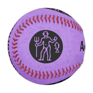 すみれ色のアクエリアスの(占星術の)十二宮図 野球ボール