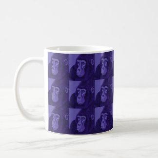 すみれ色のゴリラのマグ コーヒーマグカップ