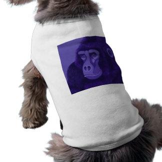 すみれ色のゴリラ犬のワイシャツ ペット服
