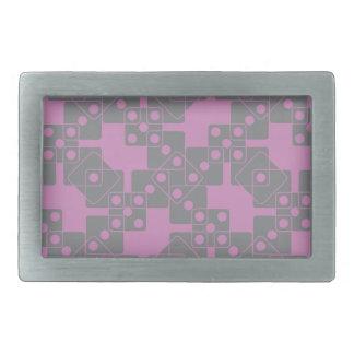 すみれ色のサイコロ 長方形ベルトバックル