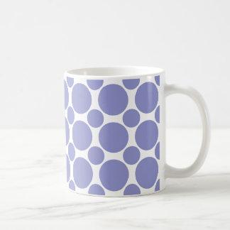 すみれ色のチューリップの水玉模様2 コーヒーマグカップ