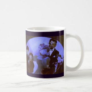 すみれ色のファインアートを用いる陶磁器のマグ: 家族のポートレート コーヒーマグカップ
