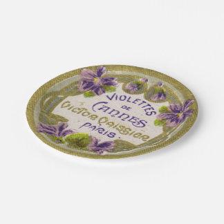 すみれ色のフランスのな香水の紙皿 ペーパープレート