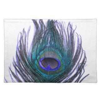 すみれ色の孔雀の羽 ランチョンマット