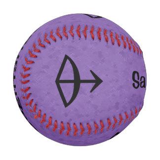 すみれ色の射手座の(占星術の)十二宮図 野球ボール