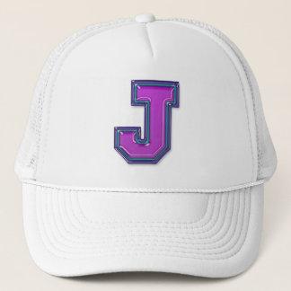 すみれ色の手紙Jのモノグラム キャップ