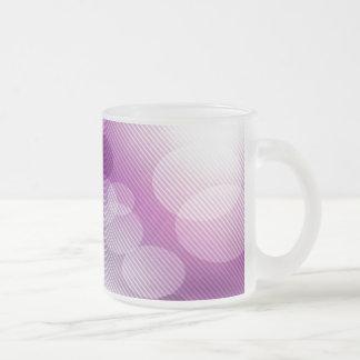 すみれ色の抽象美術 フロストグラスマグカップ