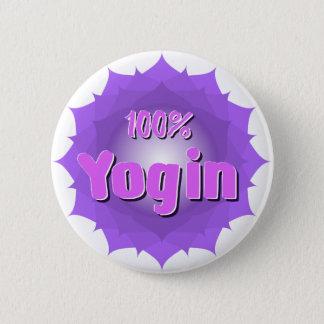 すみれ色の曼荼羅が付いているYoginの円形ボタン 缶バッジ