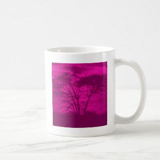 すみれ色の木 コーヒーマグカップ