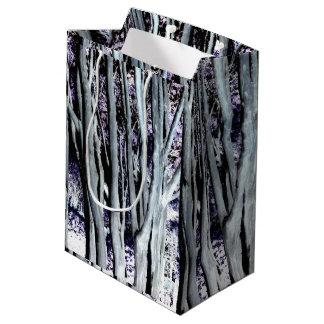 すみれ色の森林木の紫色の灰色の芸術の写真撮影 ミディアムペーパーバッグ