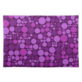 すみれ色の水玉模様 の抽象美術 ランチョンマット