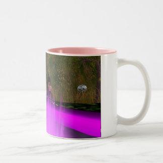 すみれ色の火のめい想 ツートーンマグカップ
