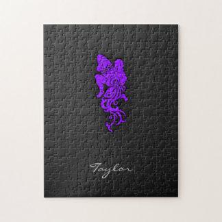 すみれ色の紫色のアクエリアス ジグソーパズル