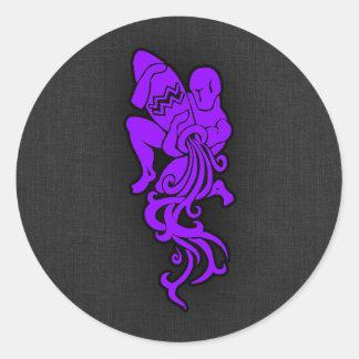 すみれ色の紫色のアクエリアス ラウンドシール
