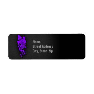 すみれ色の紫色のアクエリアス ラベル