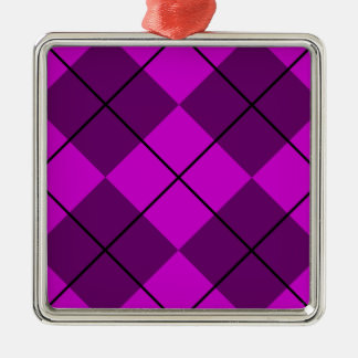 すみれ色の紫色のアーガイル メタルオーナメント