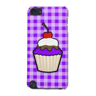 すみれ色の紫色のカップケーキ iPod TOUCH 5G ケース