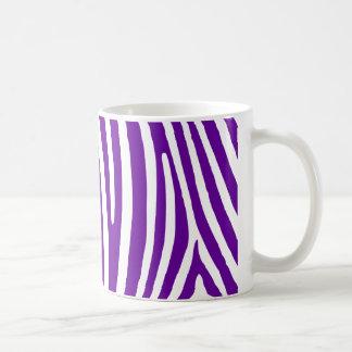 すみれ色の紫色のシマウマは縞で飾ります コーヒーマグカップ