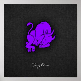 すみれ色の紫色のトーラス ポスター