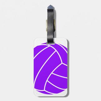 すみれ色の紫色のバレーボール ラゲッジタグ