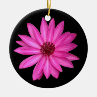 すみれ色の紫色のピンクのはすの花の円のオーナメント セラミックオーナメント