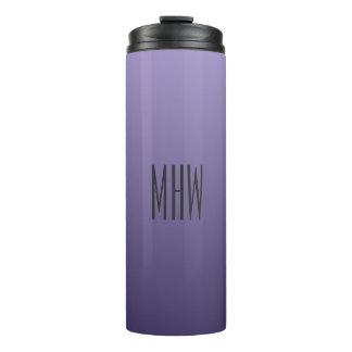 すみれ色の紫色の勾配のカスタムなモノグラムのタンブラー タンブラー