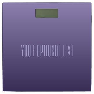 すみれ色の紫色の勾配のカスタムな文字の体重計 体重計