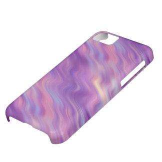 すみれ色の紫色の波状の質 iPhone5Cケース