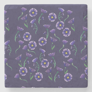 すみれ色の紫色の花 ストーンコースター
