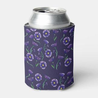 すみれ色の紫色の花 缶クーラー
