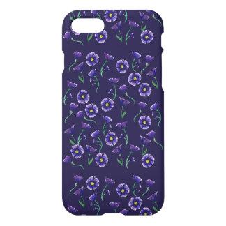 すみれ色の紫色の花 iPhone 7ケース