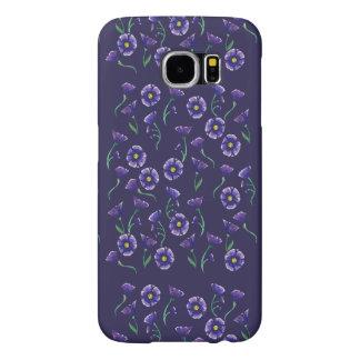 すみれ色の紫色の花 SAMSUNG GALAXY S6 ケース